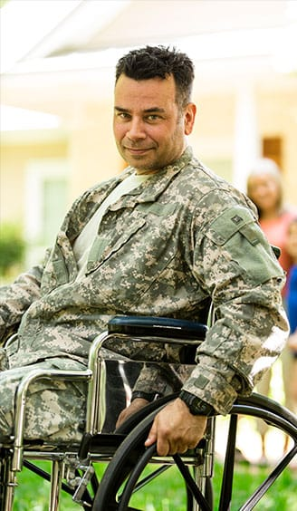veteran in wheelchair